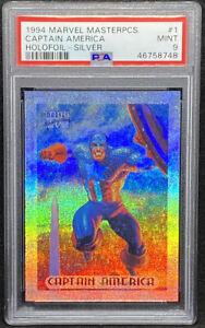Captain America 1994 Fleer Marvel Masterpieces Holofoil Silver PSA 9 POP 13