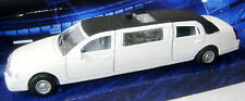NEW WHITE STRETCH LIMO LIMOUSINE WITH LIGHT AND SOUND TOY CAR BOXED TEAMSTERS
