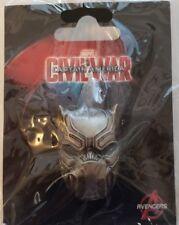 Captain America 3 Metal Pin Series Civil War Black Panther Mask Pin