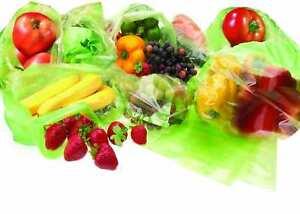 20 Fresh Food Storage, Fruit, Vegetable & Fridge Storage Green Reusable Bags UK