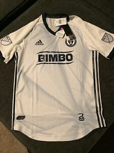 Adidas Philadelphia Union Climalite Soccer  Jersey Bimbo MLS Small AUTHENTIC NWT