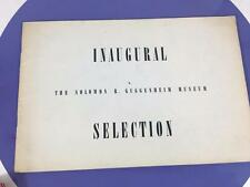 1959 Solomon Guggenheim Museum Inaugural Selection First Exhibition Catalog