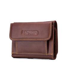 Men's Leather Trifold Wallet Vintage RFID Blocking Card Holder Slim Purse Pocket
