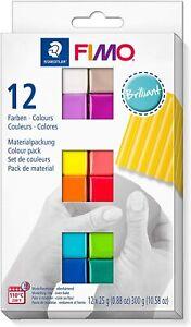 12er Set Staedtler FIMO SOFT Modelliermasse Set Brilliant Farben Qualität neu