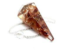 Carnelian Orgone Pendulum Crystal Of Leadership Courage Success Divination
