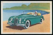 Jaguar XK150 England UK Automobile car original old 1950s Tobler postcard