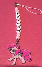 MY LITTLE PONY PERSONALISED Charm BAG /PHONE CHARMS party BAG Any Name Pinky