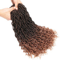 24 Strands Synthetic Goddess Locs Crochet Braids Ombre Braiding Hair Extensions