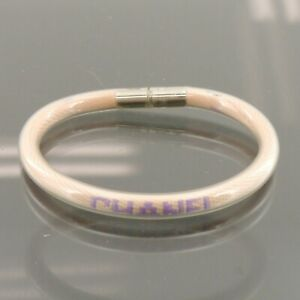 Authentic CHANEL Tube Bracelet Pink Rubber 00T #f25528