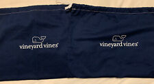 New Vineyard Vines 10x14� Navy Drawstring Cloth Gift Bags, Lot Of 2!