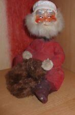 alter Weihnachtsmann mit Wackelkopf(Spiralfeder) aus Plaste mit Beschichtung