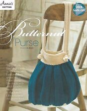 Butternut Purse Knitting Instruction Pattern Potbelly Bag Annie's New
