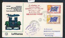 80704) LH FF París-hamburgo 31.3.65, sou a partir del Consejo de Europa, rojo l6...