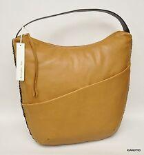 Nwt Christopher Kon Pebbled Leather Shoulder Bag Handbag Tote Hobo ~Brown