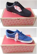 BNIB Vans Black Leather Trainers Winston Blue Milton Canvas Sneakers Shoes UK 9