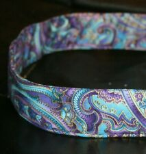 Purple & Blue Paisley Dog & Cat Collars and Leashes
