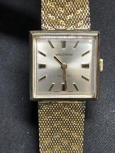 Waltham Swiss Made Square Watch Incabloc 17 Jewels Working! Classic wristwatch