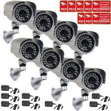 8x Outdoor Security Camera w/ SONY Effio CCD IR LEDs Wide Angle 700TVL Power WWE