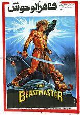 The Beastmaster 1982 Marc Singer original Egyptian one-sheet movie poster