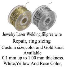 Solid 18K Yellow Gold Wire,jewelry Repair Laser Welding, 0.25mm=30 Gauge, 2 feet
