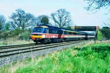 PHOTO  CLASSS 43 HST PASSES MORTIMER. CROSS COUNTRY BUFFER HST HEADS NORTH. 26.3
