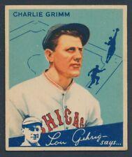 BASEBALL 1934 GOUDEY BIG LEAGUE CHEWING GUM #61 CHARLIE GRIMM !! B20