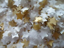 2000 Gold & White/Tissue/Wedding /Party/Christmas/Confetti/Stars/Decoration