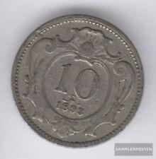 Österreich KM-Nr. : 2802 1895 sehr schön Nickel 1895 10 Heller Doppeladler