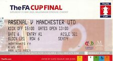 Manchester United Football FA Cup Fixture Tickets & Stubs