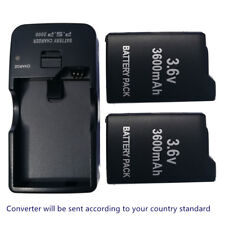 TWO(2) Rechargeable Battery +WALL Charger for Sony PSP 1000 Fat 1003 1004 series