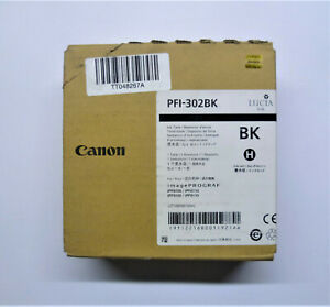 Original Canon PFI-302BK Black 330ml iPF8100 8110 iPF9100 9110 Boxed 11/2016
