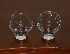 Couple two 2 glasses design balloon ice cream cups whisky cognac brandy vintage
