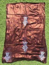 INDIGO Tuareg Cross SCARF Ethnic Tribal African Embroidered Inky Purple Blue NEW