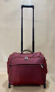 "Briggs & Riley Transcend 15"" Rolling Cabin Bag TUC115 Red Weekender Tote $279"