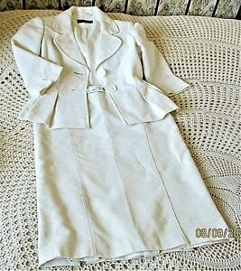 Cream textured outfit by NEXT WOMAN Size 10 Formal Wedding Pleated detail