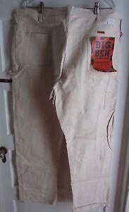 NOS Wrangler Big Ben Utility Painters Pants Carpenter Work Jeans Natural 5R07MDZ