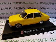 AP8N Voiture 1/43 IXO AUTO PLUS : RENAULT 12 TL 1970 jaune