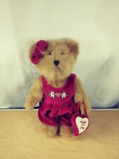 Boyd's Bears Valentine Bear With Overalls And Heart Purse