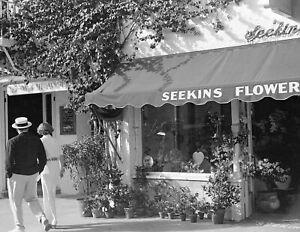 "1939 Seekins Flower Shop, Palm Beach, Florida Old Photo 8.5"" x 11"" Reprint"
