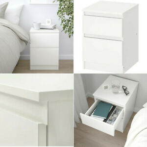 Ikea KULLEN 2 Drawers Chest Home Office Table Bedside Furniture White 35x49cm