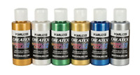 Createx Colors 5804-00 Createx Pearl Airbrush Set, Assorted Colors, 2 oz, 6 2