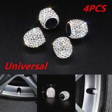 White Jeweled Bling Diamond Tire Wheel Stem Valve Cap Cover Car Auto 0.59*0.59''