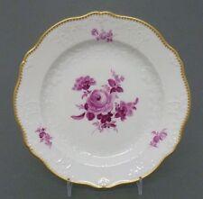 (MT166) Teller, MEISSEN, Neumarseille, purpur Blumen, Goldkante, D=18 cm, 1.Wahl