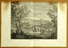 ENTERREMENT TURC Planche gravure estampe originale de J.B. SCOTIN 1714