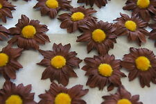 Sonnenblumen Blüten Tischdeko Streublumen Tischdeko braun gelb