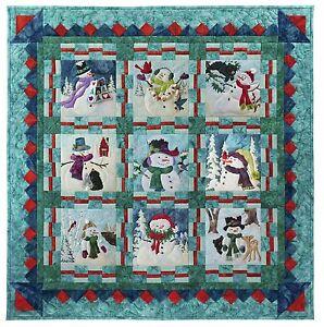 "McKenna Ryan ""Snow Buds"" Pattern 10 Patterns Free US Ship Snowman Christmas DIY"