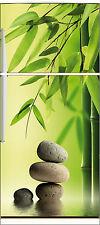 Sticker frigo électroménager déco cuisine Galets bambous 70x170cm réf 537