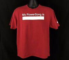 VTG Nike Mens S Grey Tag My Power Song Apple IPod T-Shirt Red S/S Music Rare