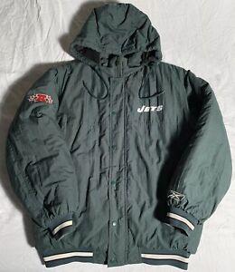 Vintage New York Jets Football Reebok Zip Up Puffer Jacket Men's Medium NY NFL
