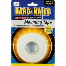 HARD AS NAILS HEAVY DUTY DOUBLE SIDED MOUNTING TAPE 50 KG PER ROLL 24MM X 5M